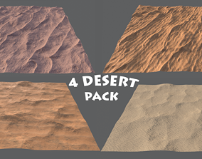 DESERT PACK LowPoly GameReady 3D model