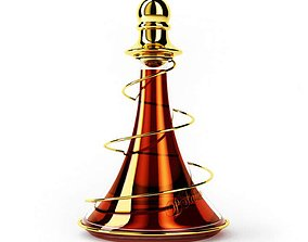 3D Very Modern Orange Perfume Bottle