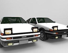 3D asset Car Toyota EA 86