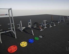 Gym Props PACK 01 3D model