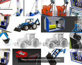 3D model Heavy industrial vehicles collection
