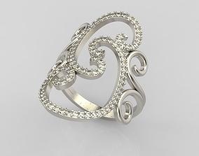 3D print model Long finger ring
