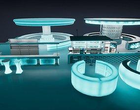 3D asset PBR Bar props Unreal and Unity