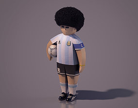 3D model Diego Armando Maradona - Lowpoly