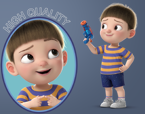 3D model Cartoon Boy Rigged