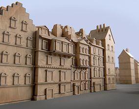 3D asset Paper Buildings and Building Model Kit