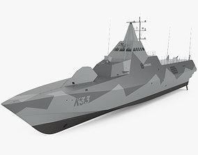 Visby-class corvette 3D model