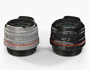 Pentax HD DA 15mm f-4 ED AL Limited Lens 3D model