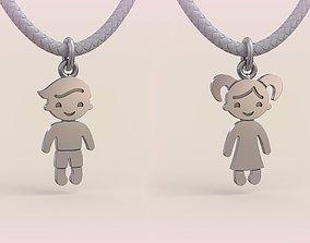 3D print model Pendant Boy and Girl 08