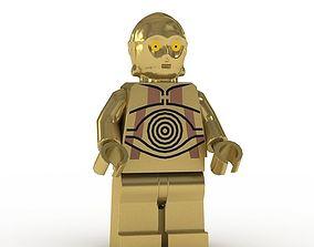 LEGO Minfigure C3PO 3D model