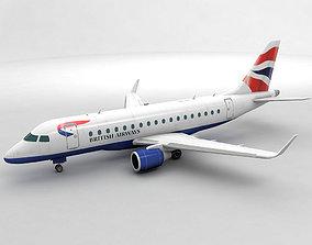 3D model Embraer ERJ 170 - British Airways