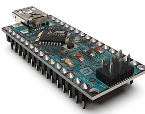 Arduino nano 3D model