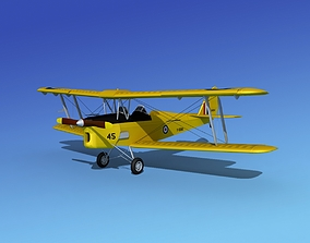 3D Dehavilland DH82 Tiger Moth V05