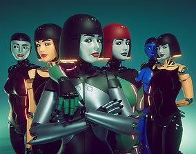3D asset Cyber Girl
