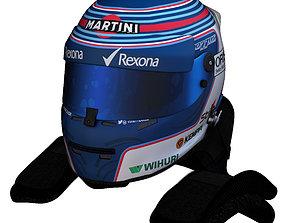 3D model Bottas Helmet 2016