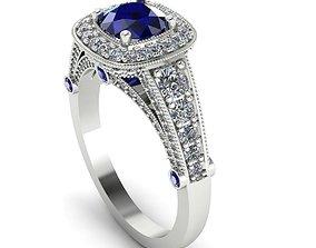 Ring 3D print model diamonds ring