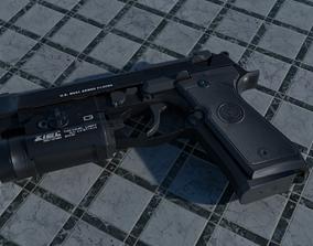 Beretta M9A1 3D asset