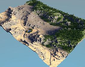 landscape biomes01 forest to desert 3D model