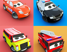 CARTOON CAR COLLECTION 3D model