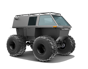 Wheel floating all-terrain vehicle 3D model