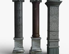 3D asset Columns