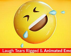 Laughing Tears Animated Emoji 3D model