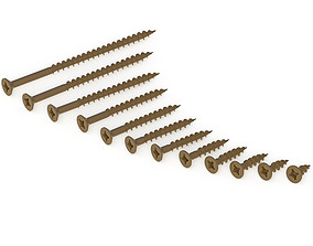 3D model Wood Screw Number 8