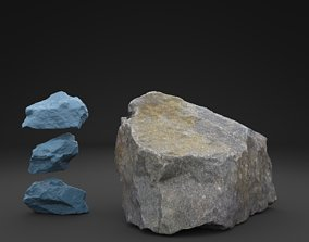 3D model Scanned Old Rock HIGH POLY