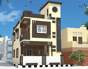 house parapet 3D model Residential