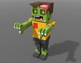 3D asset Voxel Zombie