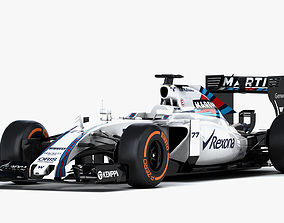 3D model F1 Williams Mercedes FW37 Formula 2015