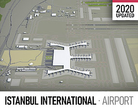 3D asset Istanbul Airport - IST