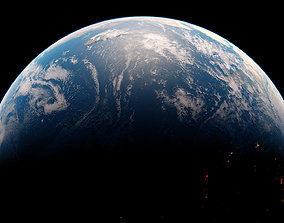 3D model animated Photorealistic Earth 16K textures