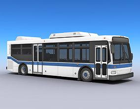 City Bus 3D model realtime PBR