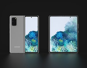 Concept of Samsung Galaxy Fold 2 In Leaked Colors 3D model