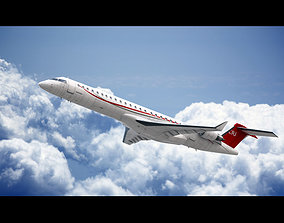 3D animated Bombardier CRJ 900