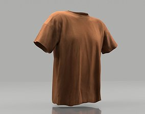 game-ready T-shirt 3D model low poly