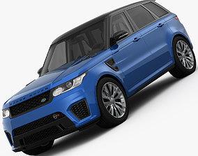 3D model Range Rover Sport SVR 2015