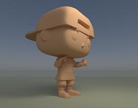 Custom Pop Boy Snapback Flat Bill DIY Figure 3D Print