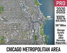 3D Chicago Metropolitan Area