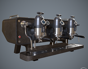 3D COFFEE MACHINE SANREMO OPERA BROWN ESPRESSO PBR 1