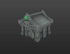 Stone Tomb 3D asset