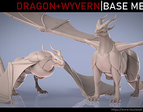 Dragon and Wyvern Base Meshes 3D model