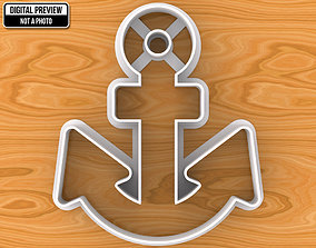 Anchor Cookie Cutter 3D print model