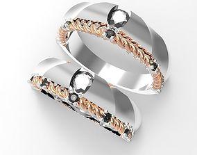 3D printable model Twine wedding ring