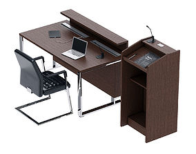 3D model LAS I-MEET Presidium table and tribune