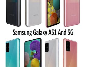 3D model Samsung Galaxy A51 And 5G