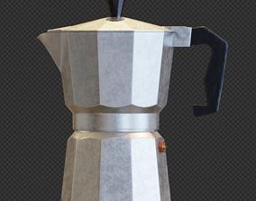Moka pot or coffee kettle 3D