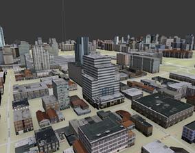 Ottawa 2x2 km Canada Topography Street map 3D