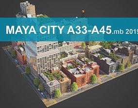 City District A33-A45 MAYA 3D asset